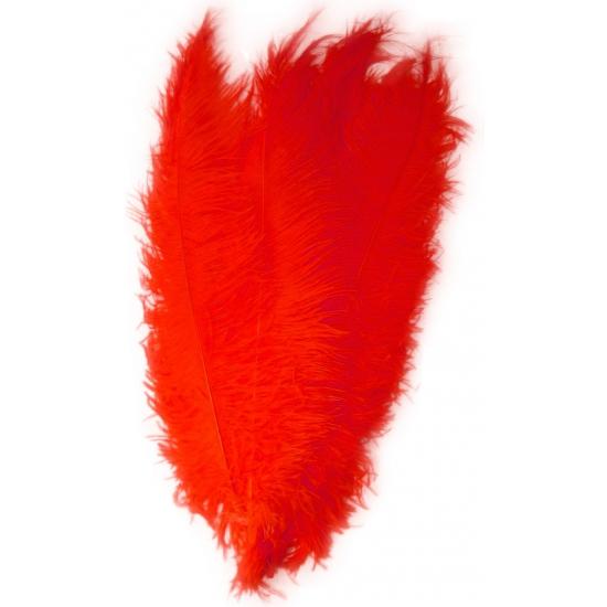 Rode grote sier veertjes 50 cm