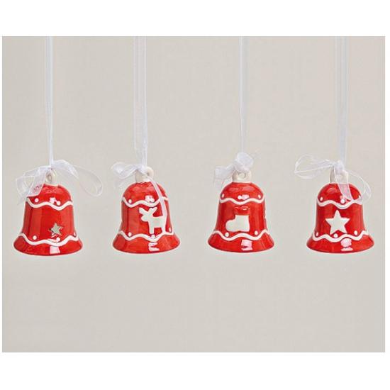 Rode kerstklokjes hanger