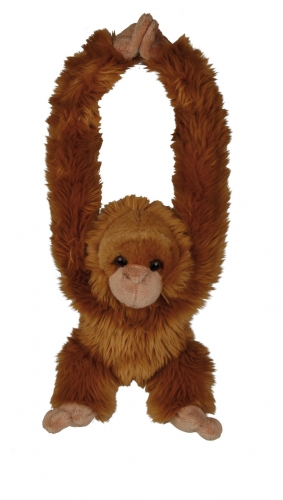 Rode orang oetan knuffel 40cm