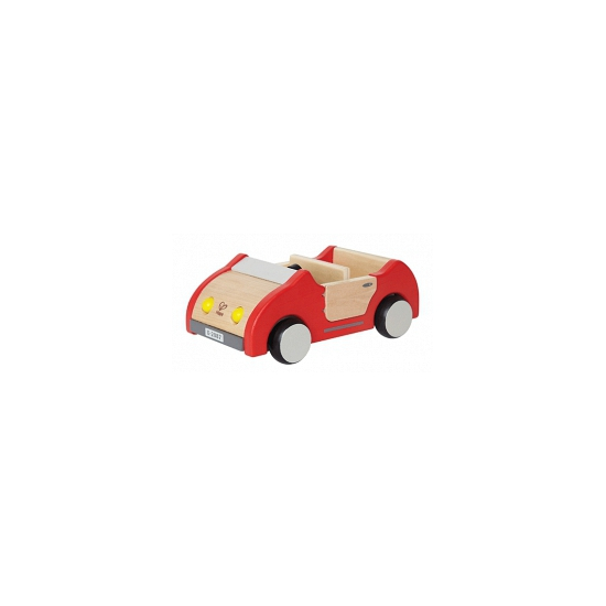 Rode poppenhuis auto