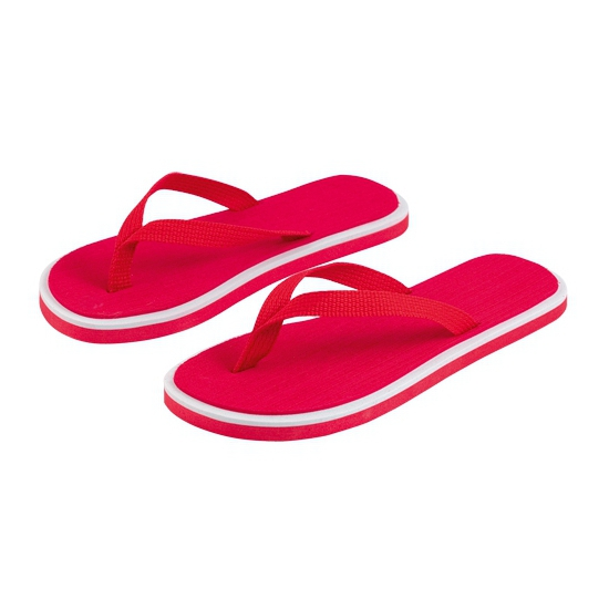 Rode strand slippers voor dames