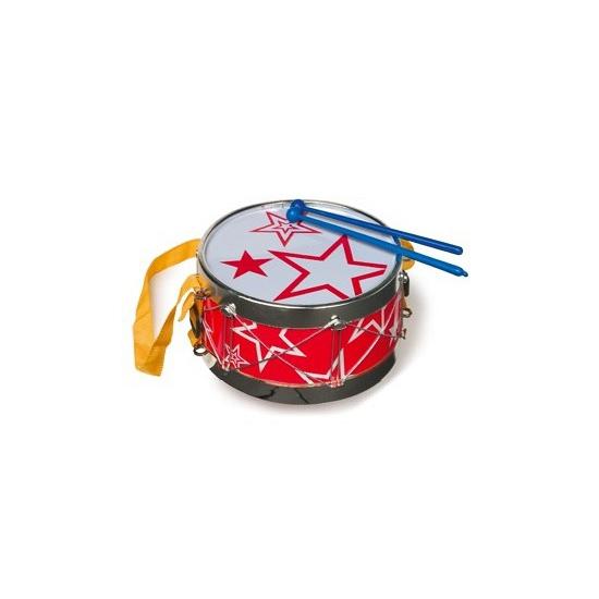 Rode trommel voor kinderen