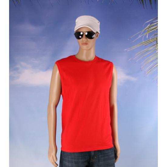 Rode zomer tanktops voor heren