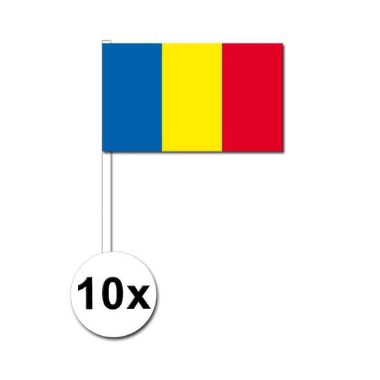 Roemenie zwaai vlaggetjes 10 stuks