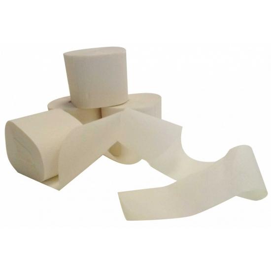 Rolletje crepe papier wit 20 meter