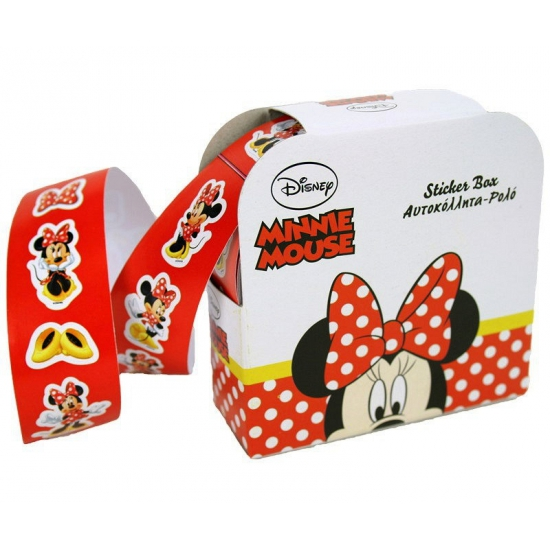 Rolletje met 150 Minnie Mouse stickers