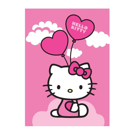 Roze Hello Kitty speelkleed 95 x 133 cm