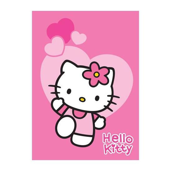 Roze Hello Kitty speelkleed 95 x 133 cm