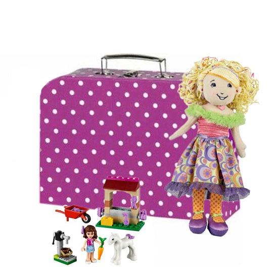 Roze meiden opbergkoffer 30 cm