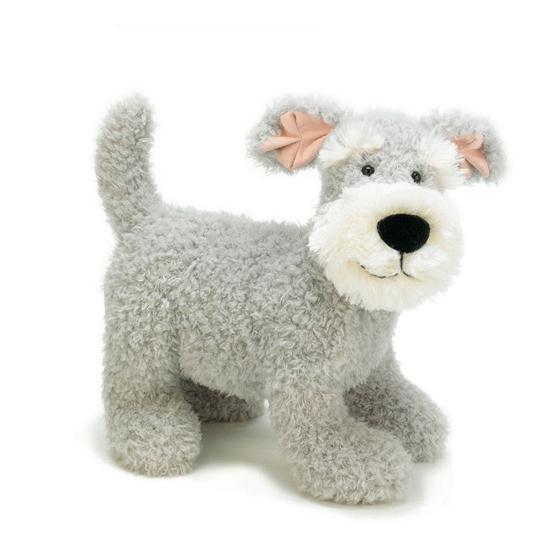 Schnauzer honden knuffeltje 38 cm