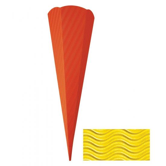 Schoolzak geel 68 cm
