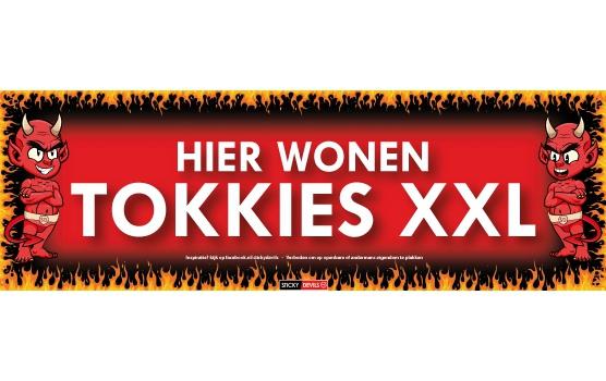 SD sticker Hier wonen tokkies XXL