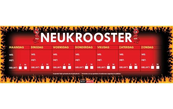 SD sticker Neukrooster  per week