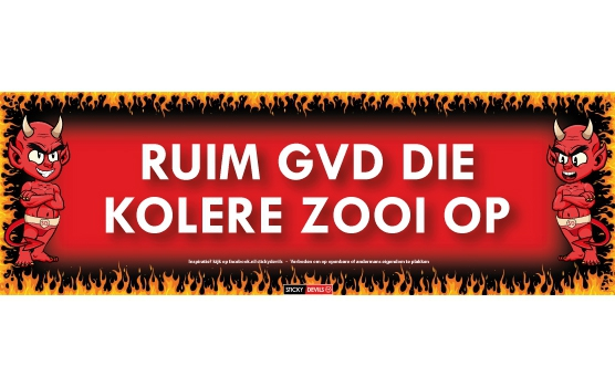 SD sticker Ruim gvd die kolere zooi op