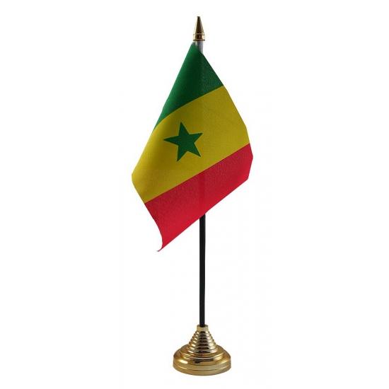 Senegal vlaggetje voor op tafel