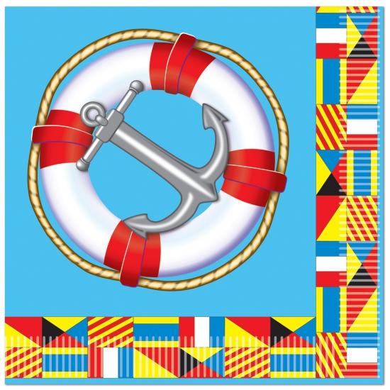 Servetjes Cruise thema