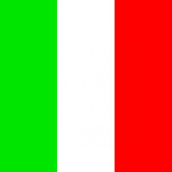 Servetten met de Italiaanse vlag 20 stuks