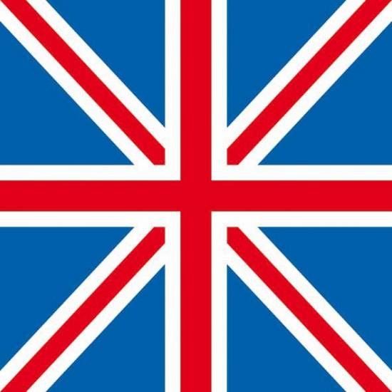 Servetten Union Jack vlag 20 stuks