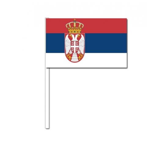 Servie zwaai vlaggetjes 12 x 24 cm