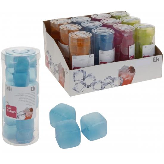 Set van 18 gekleurde ijsblokjes