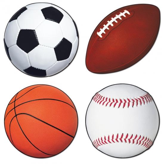 Set van vier sport decoraties