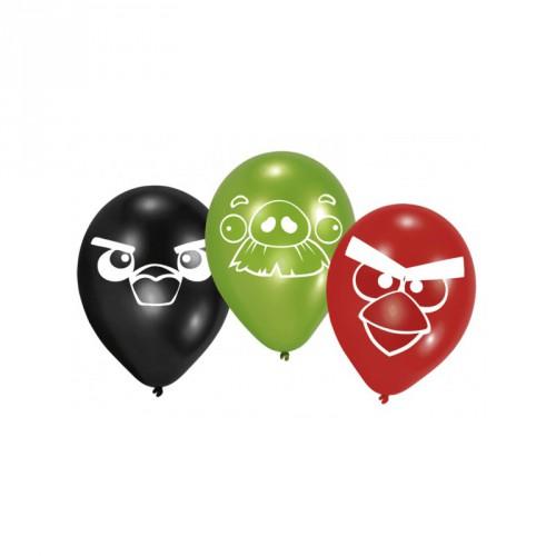 Set van zes Angry Birds ballonnen