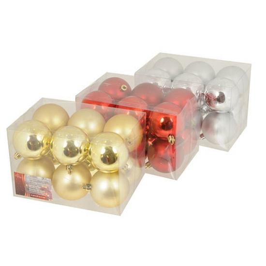 Setje kerstballen 6 cm 12 stuks