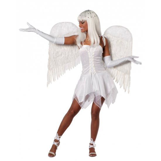 Sexy engelen jurkje wit