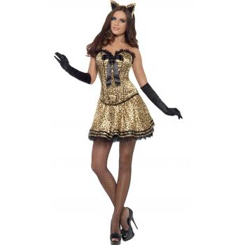 Sexy katje kostuum met luipaard print