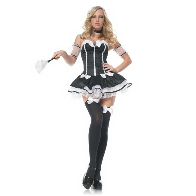 Sexy serveerster kostuum voor dames