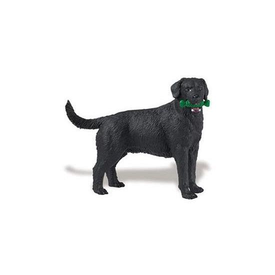 Speeldier zwarte Labrador hond 9 cm