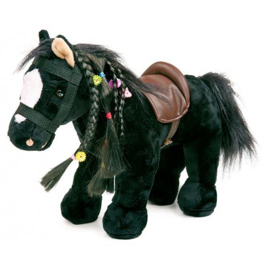 Speelgoed paard zwart met geluid