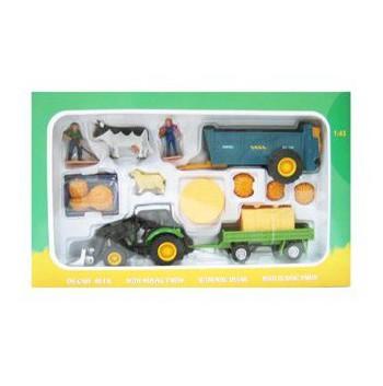 Speelgoed tractor set van metaal met shovel