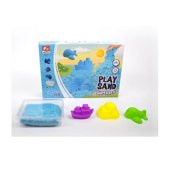 Speelzand blauw met vormpjes