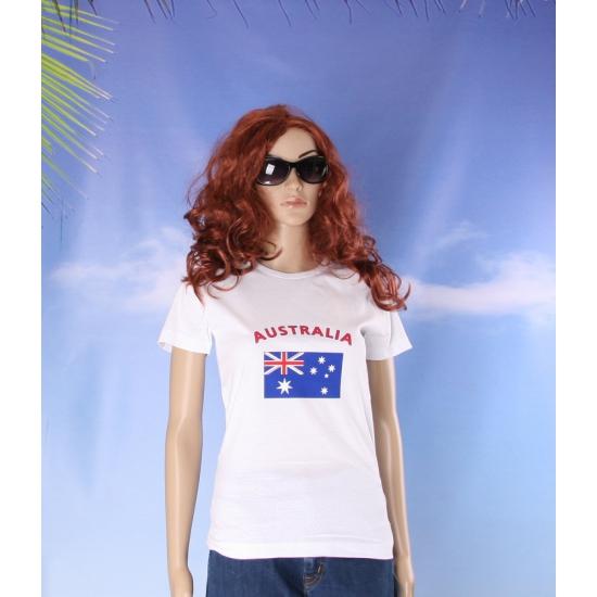 T shirt met Australische vlag print voor dames