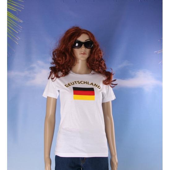 T shirt met Duitse vlag print voor dames