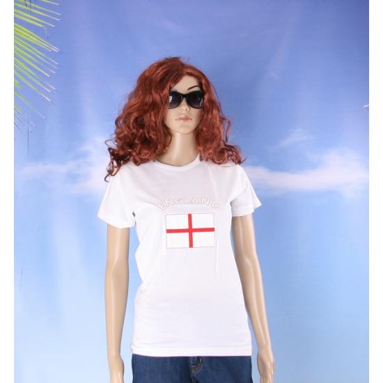 T shirt met Engelse vlag print voor dames
