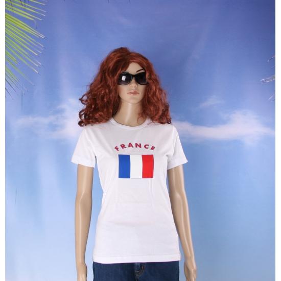 T shirt met Franse vlag print voor dames