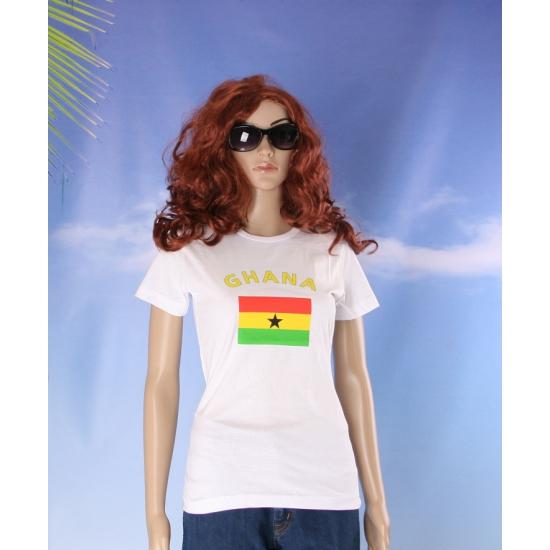 T shirt met Ghanese vlag print voor dames