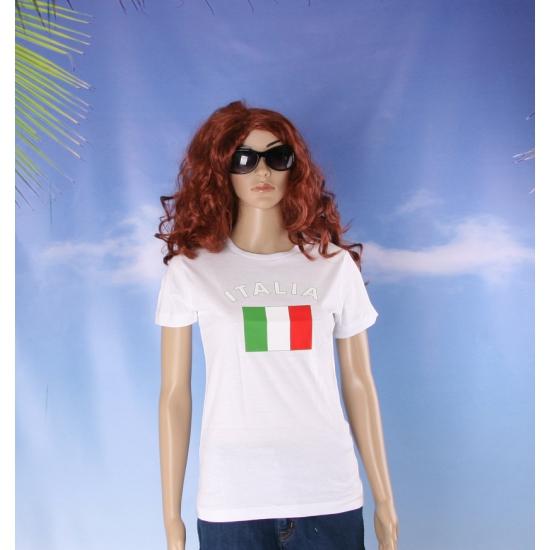 T shirt met Italiaanse vlag print voor dames