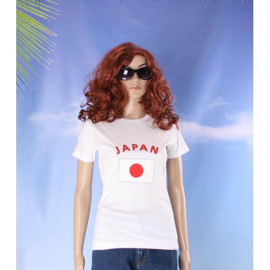 T shirt met Japanse vlag print voor dames