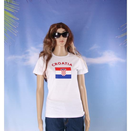 T shirt met Kroatische vlag print voor dames