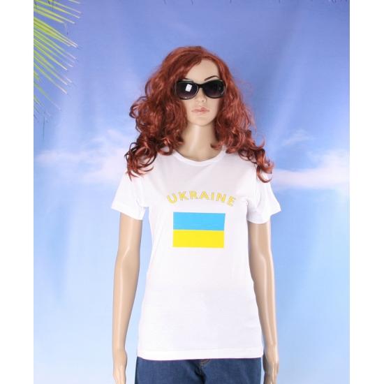 T shirt met Oekraiense vlag print voor dames