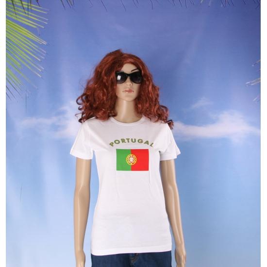 T shirt met Portugese vlag print voor dames
