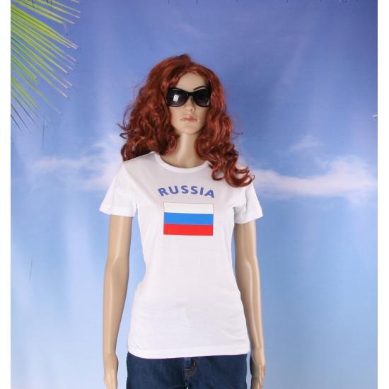 T shirt met Rusische vlag print voor dames