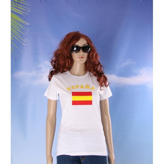 T shirt met Spaanse vlag print voor dames