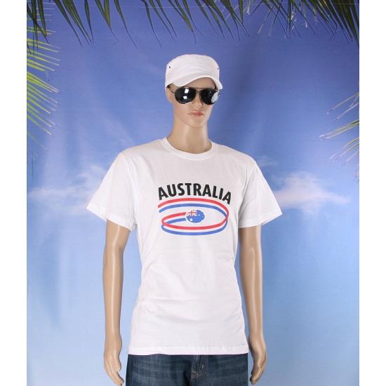 T shirts met Australie opdruk volwassenen