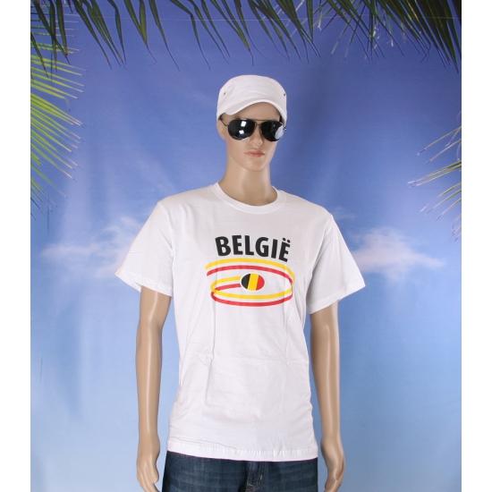 T shirts met Belgie opdruk volwassenen