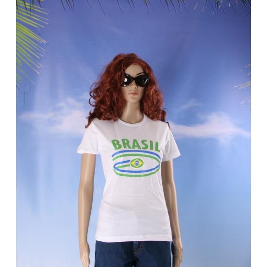 T shirts met Brasil opdruk voor dames