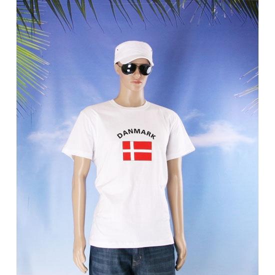 T shirts met Deense vlag print